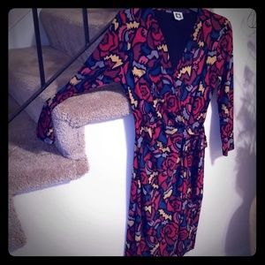 Anne Klein faux wrap dress Size 8